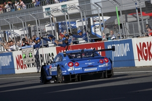 Calsonic Impul GT-R achieves lights to flag at Fuji Speedway