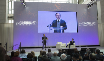 Nissan chief executive officer Carlos Ghosn hosts keynote, address and Q&A at AutoMobili-D exposition