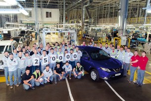 Nissan reaches 250,000 production landmark in Russia