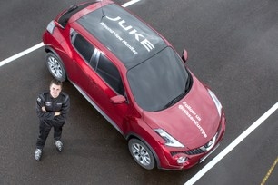 Nissan Juke uses onboard cameras to set world-first
