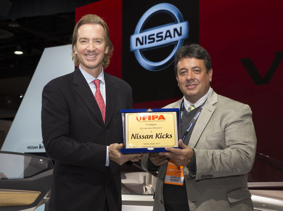 "Nissan Kicks named ""2017 SUV of the Year"" by the Inter-American Federation of Automotive Journalists"