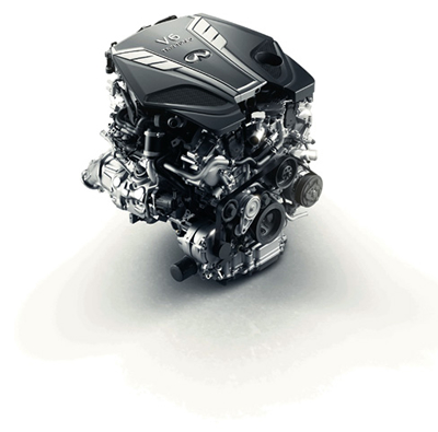 3 0-liter V6 twin-turbo engine: the most advanced V6 for Infiniti