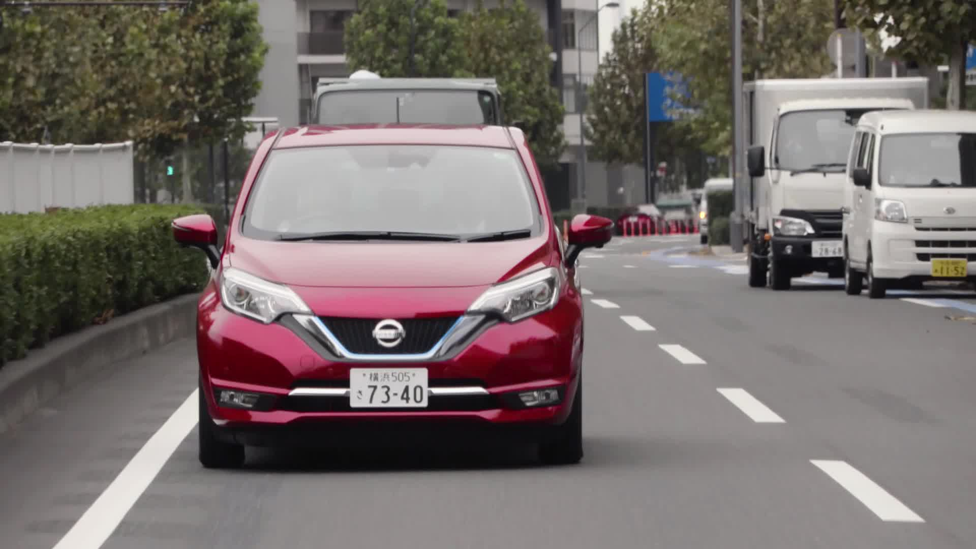 B-roll city driving for Nissan NOTE e-POWER